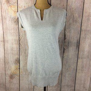 Athleta Grey Notch Neck Knit Sweater Dress Sz XXS
